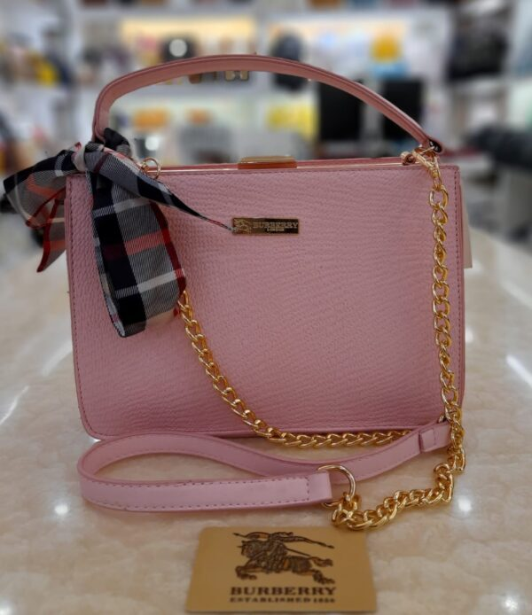 Bag For Women with golden chain pink color