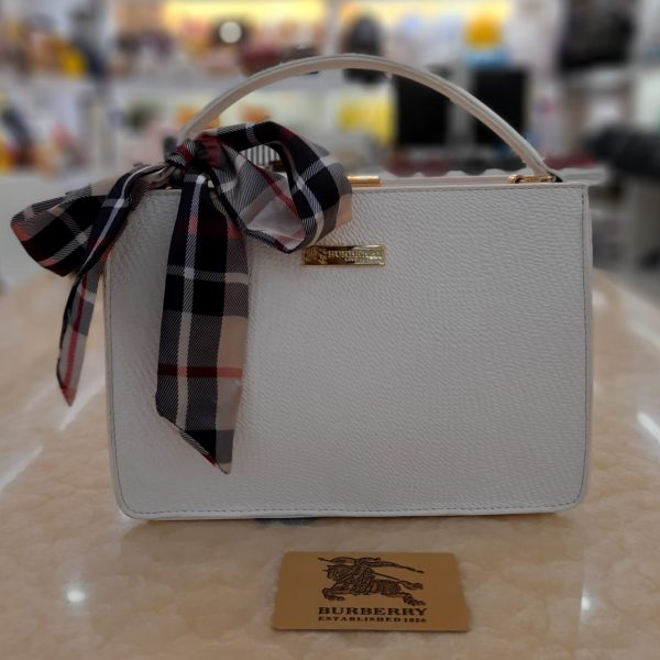 Bag For Women with golden chain white color