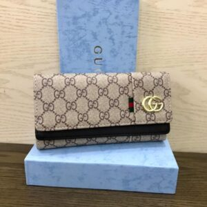 High Quality Blue Color Wallet with Box