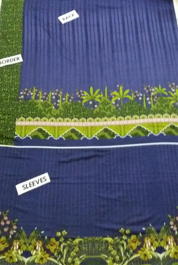 blue embroidered suit with green dupatta 5